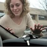 заключени ключове в автомобил